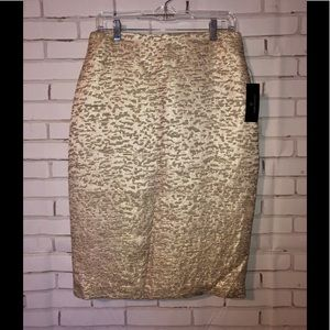 Gold pencil skirt sz 10 - new with tags